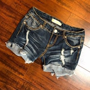ALMOST FAMOUS Premium Destroyed Jean Shorts